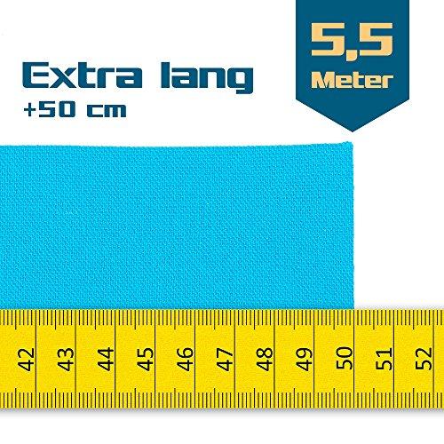 SL StarTape Kinesiologie Tape 6er Set inklusive Schere - Sporttape Rollen 5 cm breit und 550 cm lang - Pflaster Tapes - 2