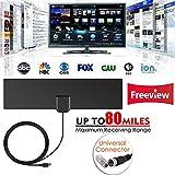 ETbotu TV-Antennen für den Innenbereich, Freie, TV Surf Radius Antenne, Digital HDTV Kabel, TV Fox Antenne, DVB-T/T2 VHF UHF TVSurf Antennen Receiver