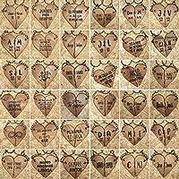 LLAVEROS PERSONALIZADOS para PAREJAS con forma de CORAZÓN en dos mitades de madera de olmo recuperada
