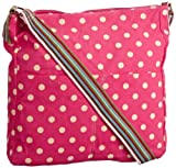 SwankySwans Womens Kirsty Polka Crossbody Bag Pink SS01007 Large