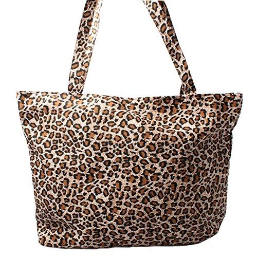 Accessoryo - marron imprimé léopard sac de plage en été des femmes