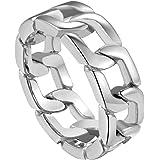 ChainsPro Anelli a catena / spinner da uomo cubani, fantastici anelli a fascia in acciaio inossidabile, argento / oro / nero,