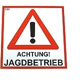 Waidmannsbrücke Warndreieck Achtung Jagd Rot 1 Stk Sport Freizeit