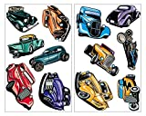 Hot Rod Set Wandtattoo mehrfarbig Auto USA in 5 Größen (2x16x26cm mehrfarbig)