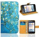 FoneExpert® Huawei Ascend Y330 Handy Tasche, Wallet Case Flip Cover Hüllen Etui Ledertasche Lederhülle Premium Schutzhülle für Huawei Ascend Y330