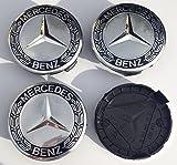 Mercedes Original Blue Lorbeerkranz, der Legierung Felgendeckel X 4