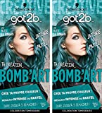 got2b color - Coloration Cheveux - BOMB'ART BLEU - 097 La Pétillante - Semi Permanent - Lot de 2