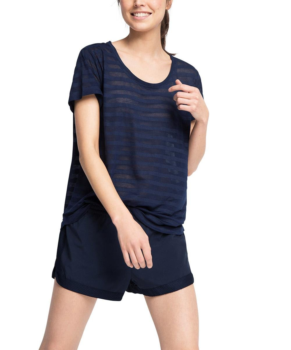 ESPRIT Sports T-Shirt E-Dry leichtes Funktions, T-shirt Sportiva Donna, Blu (Navy 3 402), 42