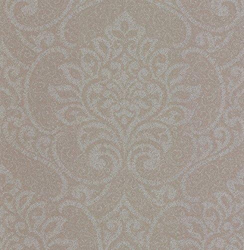 Bhf DL22836Lupus tortora metallizzato carta da parati damascata–(pezzo)