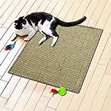 Floori® Sisal Kratzteppich | Naturfaser: nachhaltig und umweltfreundlich | Heu, 50x50cm