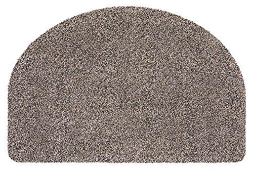 andiamo Schmutzfangmatte Samson waschbare Fußmatte für den Innenbereich, halbrund 50 x 75 cm granit