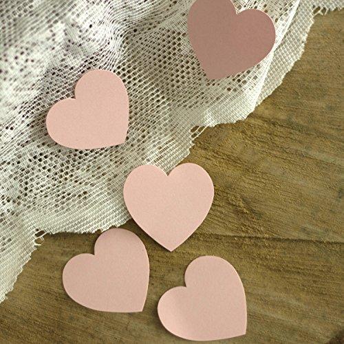 Papierherzen Rosa 100 Stück - Klein