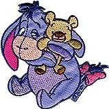 Applikationen - Kids and Hits - aufbügelbar Winnie Pooh © I-Aah m. Teddy farbig