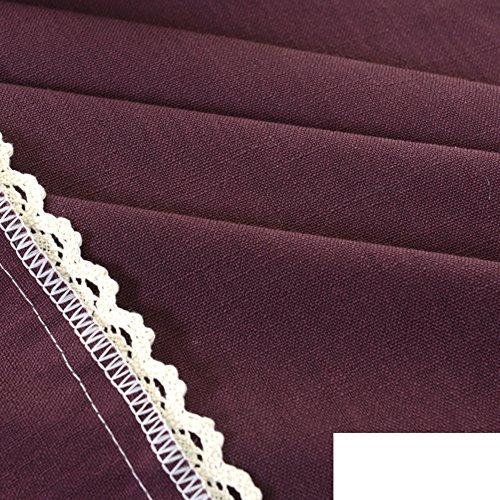 LJ&XJ Couleur unie coton lin nappes,Les nappes durables pour rectangle rond carré table vert bleu brun gris rouge nappes pour manger table basse pique-nique tv armoire bureau table-I 130x190cm(51x75inch)