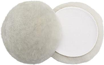 2er Sparpack 180mm Polierpad aus echtem Lammfell mit Klett