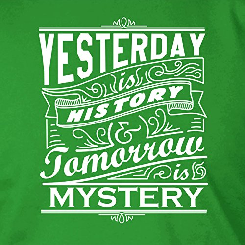 Yesterday is History, Tomorrow is Mystery - Herren T-Shirt Orange
