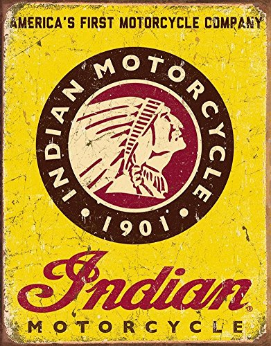 13 Decorative Bar (Indian Motorcycles Since 1901 Tin Sign 13 x 16in by Desperate)