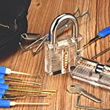 INNOCHEER Lockpicking Set: 24 Teiliges Dietrich Set mit 2 Transparentem