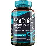 Spirulina Biologica 3000 mg con Ficocianina Grezza 19% - 600 Compresse Vegane - 500mg per Compressa - Prodotto Biologico - Pr