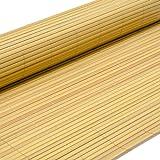 Eyepower PVC Sichtschutzmatte 80x500cm Bambus Windschutz Sichtschutz Doppelstabmatten Gartenzaun Terrasse Zaun