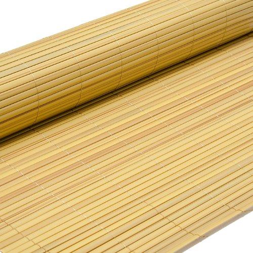 PVC Sichtschutzmatte 80x300cm Bambus Windschutz Sichtschutz Doppelstabmatten Gartenzaun Terrasse Zaun NEU