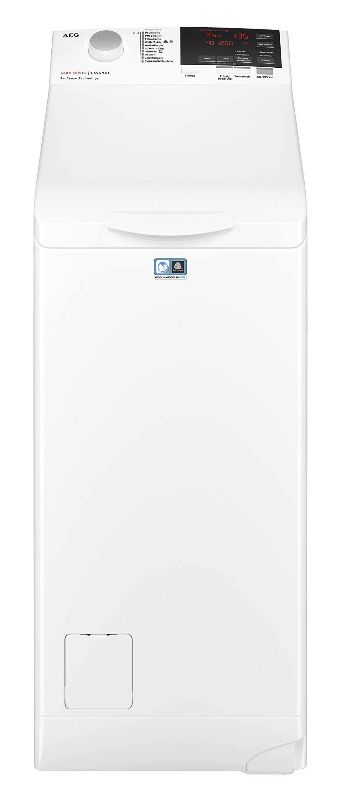 AEG L6TB61370 Waschmaschine Toplader, Waschvollautomat, 7 kg Füllmenge