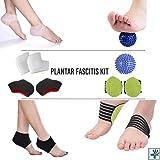 OrthoCare S Kit per fascite plantare composto da maniche apposite, sfera di massaggio, supporto per l'arco plantare