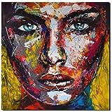ORIGINAL UNIKAT Gemälde abstrakt modern Acryl Gesicht Leinwand Bild 870 Portrait