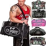 C.P.Sports Bodybuilding Trainingstasche Sporttassche Groß für Männer & Frauen - Sportsbag, Trainingsbag, Sports Bag Verschiedene Farben (Schwarz-S5-1)