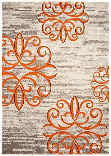Alfombra salon sala de estar Carpet moderno Design VOQUE STERNE RUG 100% Polypropylene 80x150 cm Rectangular Orange | Alfombras barata online comprar