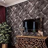 Thatch Européen noir cuir-modèle PVC fond d'écran 3D pack doux lit simple dans - Best Reviews Guide