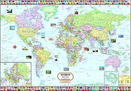 World Map : Political ( 70 x 100 cm ) (World Map)