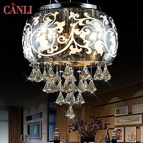 BBSLT Chandelier en cristal circulaire de del simple création Restaurant moderne salle à manger chaud (Lampadario Decorativo Hardware Kit)