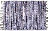 Bestlivings Teppich Läufer Matte Unterlage Vorleger Fußabtreter, breite Auswahl an modernen Fleckerl- und Baumwollteppichen (70x180cm / Jeans Bone)