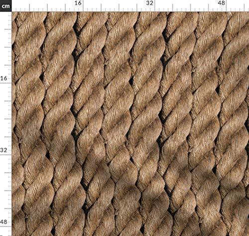 Segeln, Maritim, Seile, Küsten, Marine Stoffe - Individuell Bedruckt von Spoonflower - Design von Willowlanetextiles Gedruckt auf Baumwoll Spandex Jersey -