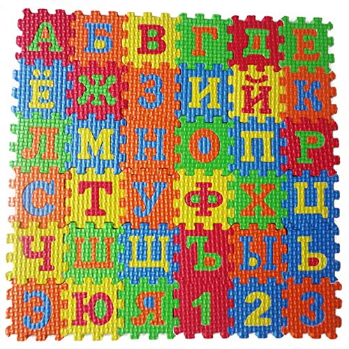 Apple Kostüm Kleinkind - Fliyeong Premium Kinder Russische Alphabet Puzzle Schaumstoff Matten Teppich Spielzeug Baby Sprachlernspielzeug