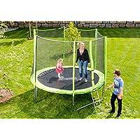 Outdoor Trampolin Gartentrampolin inklusive Sicherheitsnetz Leiter 396 cm 13 ft GRÜN