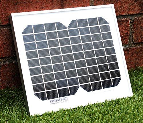 Solarmodul 12V 5W - Solarpanel Monokristallin für Autobatterie, 12V Batterie, Camping, Wohnmobil, Boot von PK Green