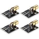 Module Laser, Module De Diode Point Rouge émetteur Laser 3 Broches 650nm Pour Les Projets De Capteur Laser 4 Pièces