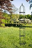 kuheiga Rankgerüst H: 300cm Hoch, 10mm Volleisen Obelisk Schwarz H: 100cm, Rankhilfe,