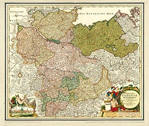 Herzogtum Sammlung (Historische Karte: Norddeutschland - mit den Herzogtümern Holstein, Mecklenburg, Lüneburg, Braunschweig, dem Herzogtum Magdeburg, der Grafschaft Dannenberg und dem Bistum Hildesheim, um 1720- (Plano))