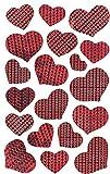 AVERY Zweckform 57872 Deko Sticker Herzen (Effektfolie) 19 Aufkleber
