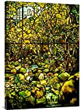 Global Galerie Budget gcs-265613–91,4–360,7cm Tiffany Studios eine bleifreien Glas Fenster der A Woodland Scene Galerie Wrap Giclée-Kunstdruck auf Leinwand Art Wand