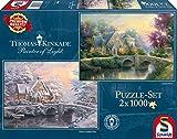 Schmidt Spiele - 59468 - Lamplight Manor - Hiver - 2 X 1000 Pièces