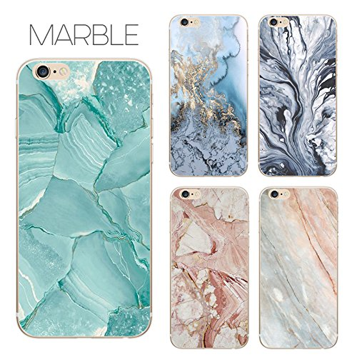 Coque iPhone 7 Housse étui-Case Transparent Liquid Crystal marbre en TPU Silicone Clair,Protection Ultra Mince Premium,Coque Prime pour iPhone 7 (2016)-style 13 iphone6plus-2