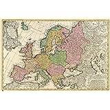 Grupo Erik Editores GPE4333 - Póster Mapa Antiguo Europa, 61 x 91,5 cm
