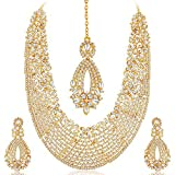 #10: Sukkhi Choker Necklace for Women (Golden)(2100NADL3000-AMZ)