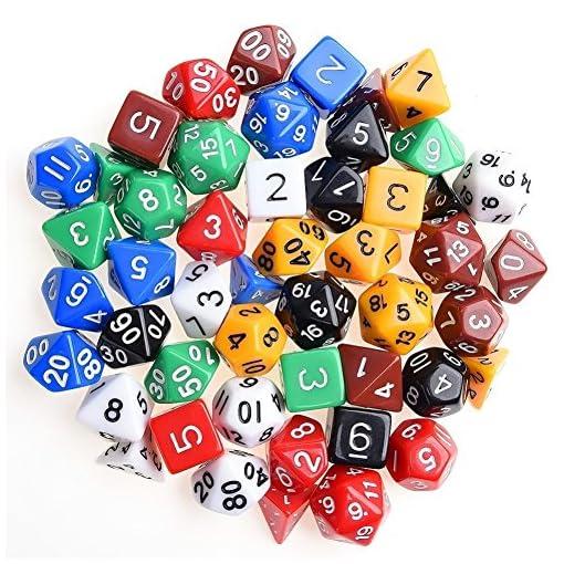 Kuuqa-49-Stck-Polyedrische-Wrfel-7-Farbe-Komplettset-Spiel-Wrfel-Fr-Party