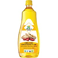 24Mantra Organic Groundnut Oil, 1 L