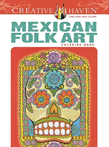 Mexican Folk Art Adult Coloring Book